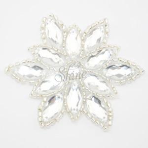 Beaded Snowflake Motif Silver