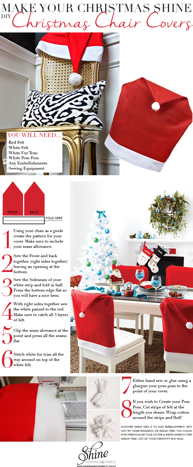 Diy christmas chair covers - Make Your Christmas Shine Christmas Chair Covers