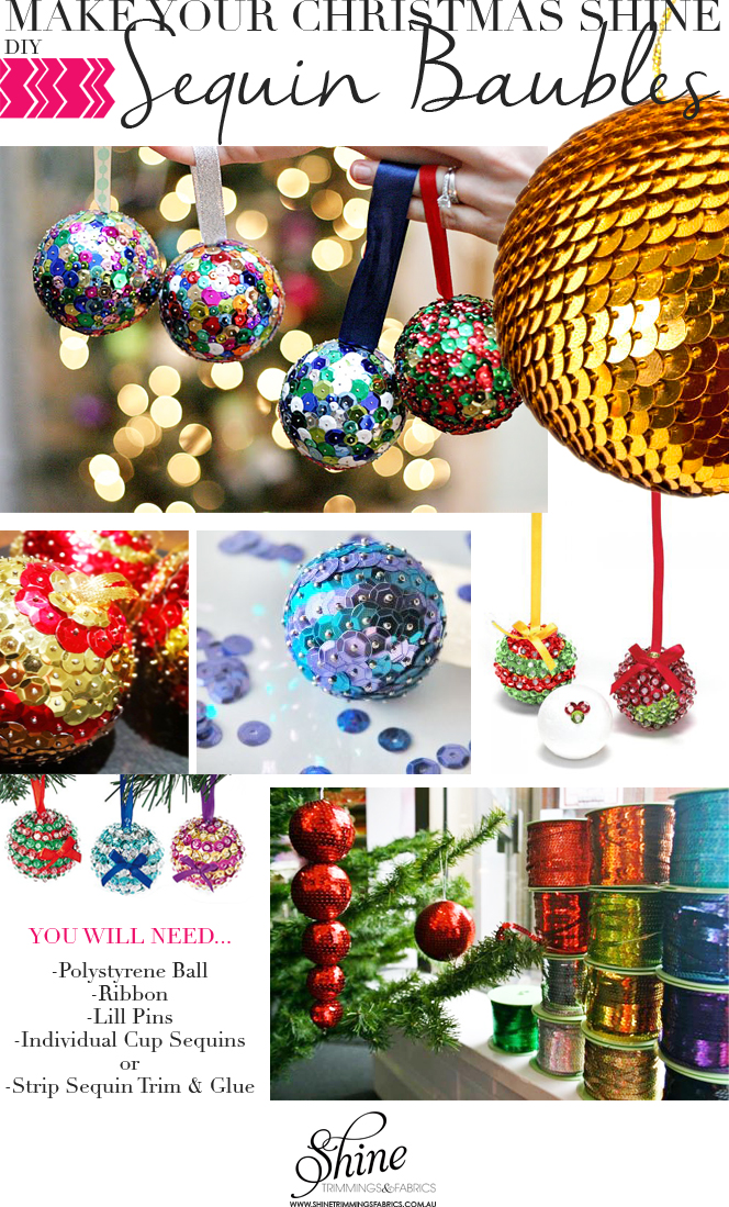 Make Your Christmas Shine Sequin Baubles Shine