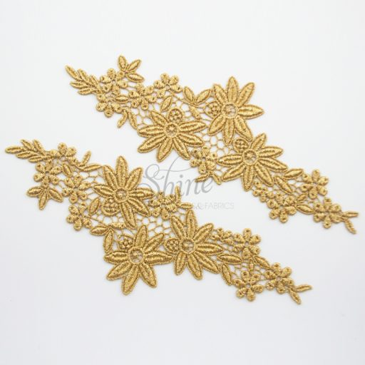 Into The Garden Metallic Gold Lace Motifs