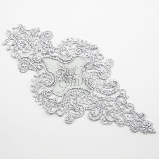 Victorian Dreams Metallic Silver Lace Motifs