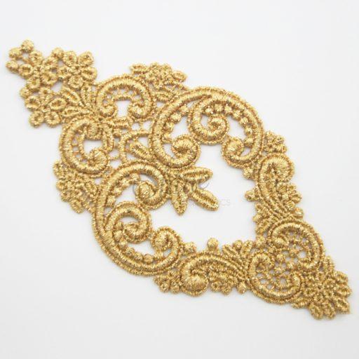 Decadent Chandelier Metallic Gold Lace Motifs