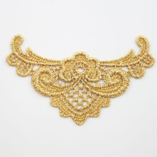 Let it Go Metallic Gold Lace Motifs