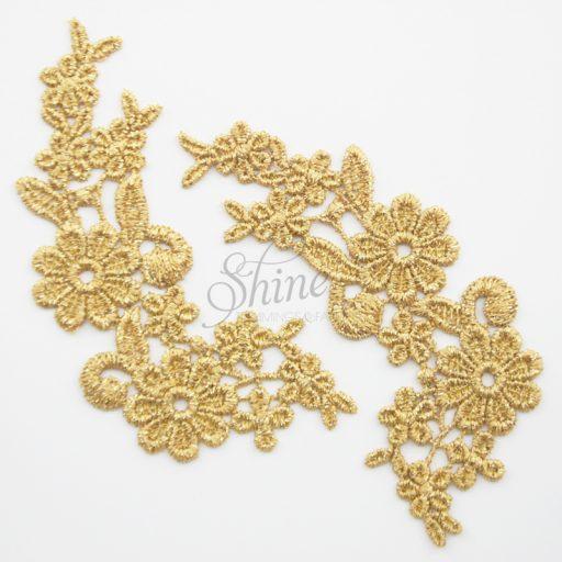 Field of Daisy's Metallic Gold Lace Motifs