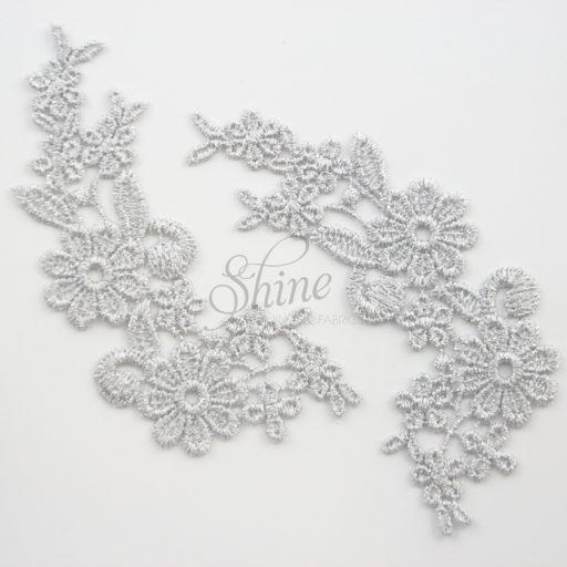 Field of Daisys Metallic Silver Lace Motifs