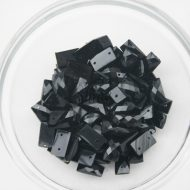 Plastic Black Sew On Stones Rectangle 7x12mm