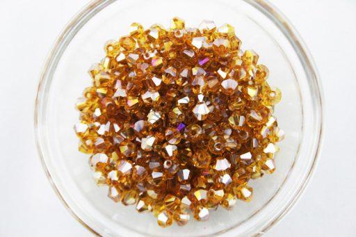 Light Colorado Glass BiCone Bead