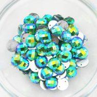 Plastic Round AB Sew on Stones