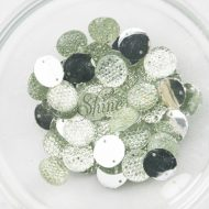 Plastic Frosted Crystal Sew On Stones Round 12mm