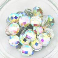 Plastic Crystal AB Sew On Stones Round 10mm