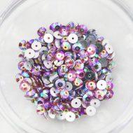 Plastic 6mm Round Sew On Stones Pink AB