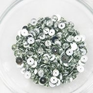 Plastic 6mm Round Sew On Stones Crystal