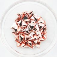 Plastic Metallic Copper Sew On Stone Triangle 12mm