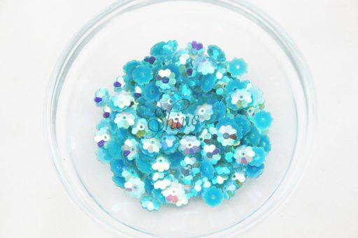 Plastic Flower Margarite Sew On Stones Aqua AB