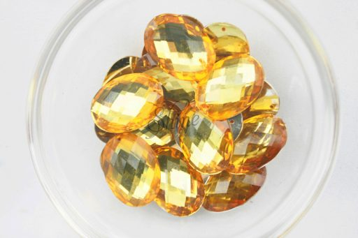 Plastic Gold Sew On Stones Oval 13x18mm