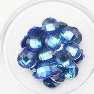 Plastic Royal Blue Sew On Stones Round 16mm