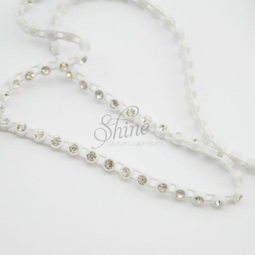 Single Row Stretch Diamante Banding