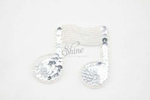 Double Music Note Sequin Motif