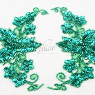 Flower Sequin Motif Pair