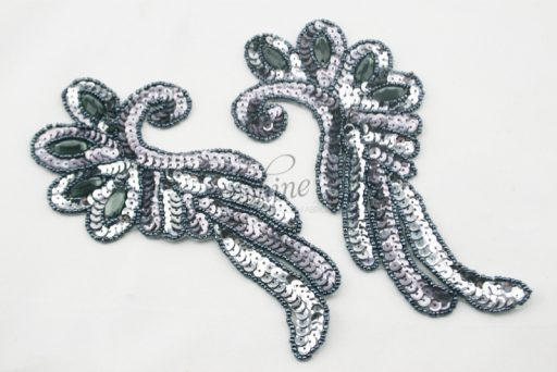 Sequin Motif Pair with Jewels
