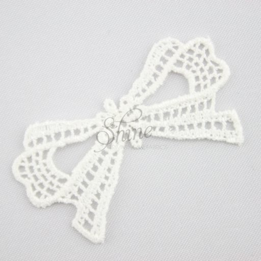 Guipure Lace Bow Motif Ivory