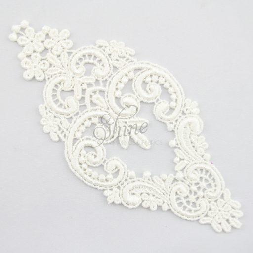 Decadent Chandelier Guipure Lace Motif Ivory