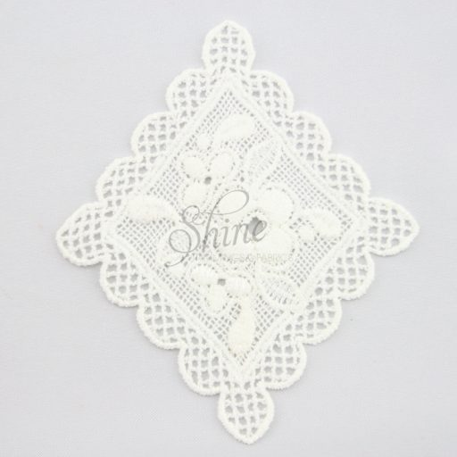 Vintage Inspired Floral Diamond Guipure Lace Motif Ivory