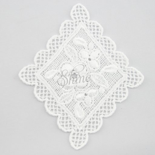 Vintage Inspired Floral Diamond Guipure Lace Motif