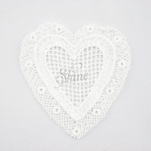 Heart Guipure Lace Motif Ivory