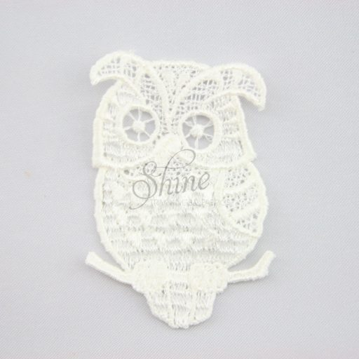 Wise Owl Guipure Lace Motif Ivory