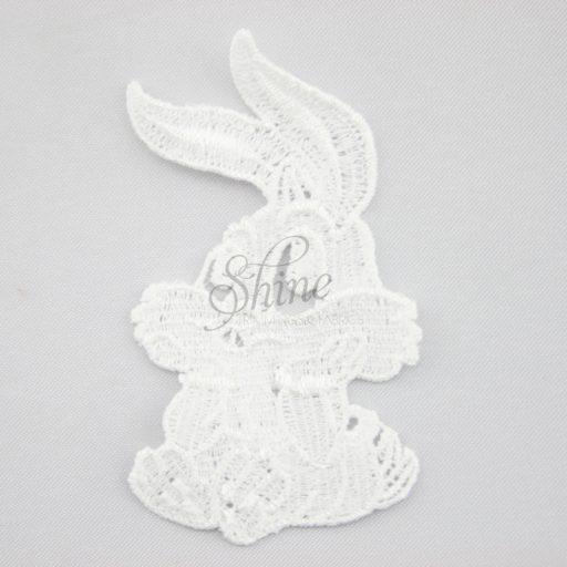 Bunny Rabbit Guipure Lace Motif White