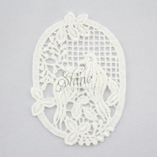 Birdcage Guipure Lace Motif Ivory