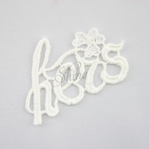 Hers Guipure Lace Motif Ivory