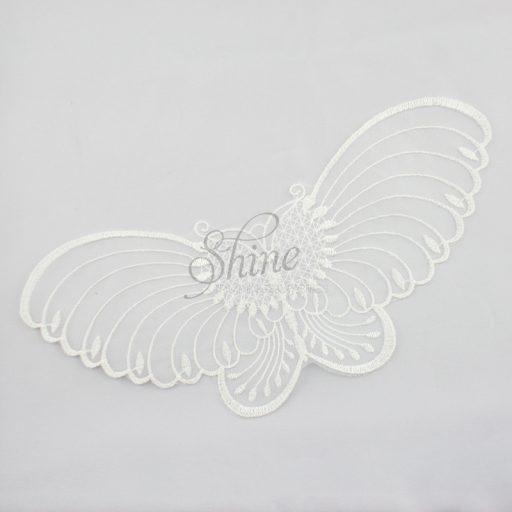 Butterfly Organza Lace Motif Ivory