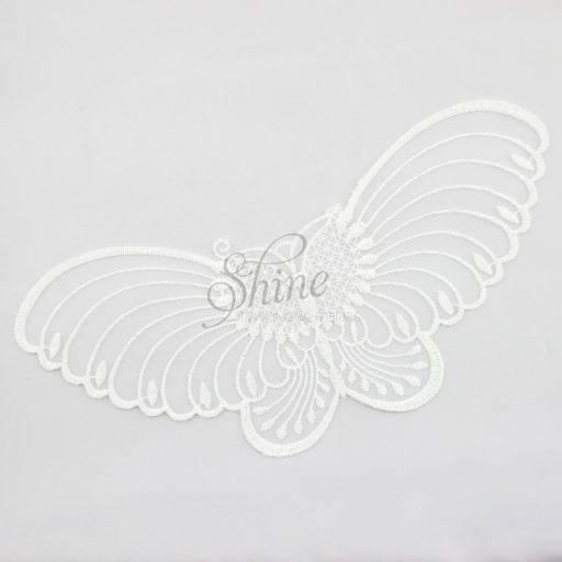 Butterfly Organza Lace Motif White