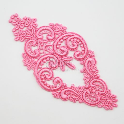 Decadent Chandelier Sacket Pink Lace Motif
