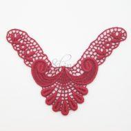 Small Art Deco 'V' Burgundy Lace Motif