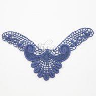Small Art Deco 'V' Blu Notte Lace Motif
