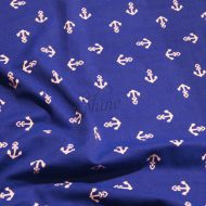 Anchors Aweigh Print Spandex Royal White
