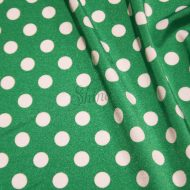 Spot Print Stretch Spandex 11mm Emerald White