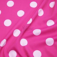 Spot Print Stretch Spandex 20mm Hot Pink White