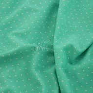 Microdot Print Spandex 1mm Mint White