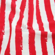 Brush Stripe Printed Spandex White Red