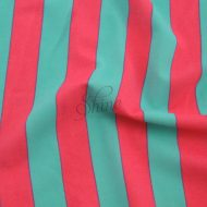 Stripe Print Stretch Spandex 18mm Mint Coral
