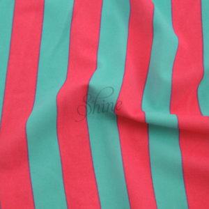 Stripe Print Stretch Spandex
