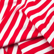 Stripe Print Stretch Spandex 18mm White Red