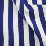 Stripe Print Stretch Spandex 11mm White Navy