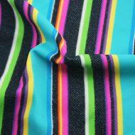 Radiant Rainbow Strips Print Spandex