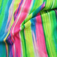 Tropic Awakenings Watercolour Stripes Print Spandex