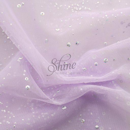 Confetti Stretch Tulle Lilac
